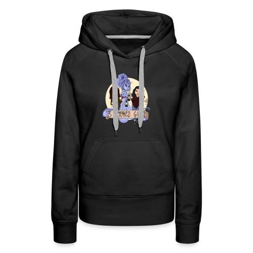 3 Spooked Girl Logo - Women's Premium Hoodie