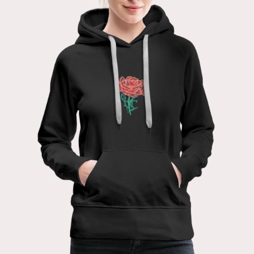 Retro Rose By ConqueringLife - Women's Premium Hoodie