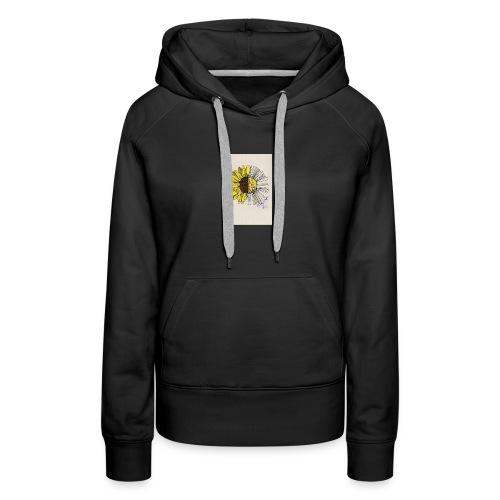sunflower quote - Women's Premium Hoodie