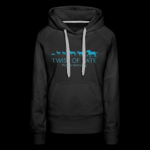 Twist of Fate Farm and Sanctuary Logo - Women's Premium Hoodie