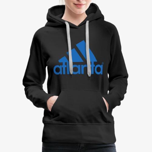 adlanta blue edges - Women's Premium Hoodie