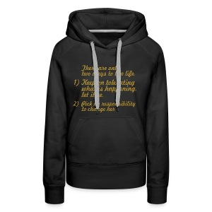 There are only... Mahatma Gandhi Life Quote - Women's Premium Hoodie