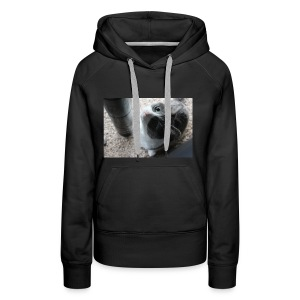 Adorable kitty staring positive messages - Women's Premium Hoodie