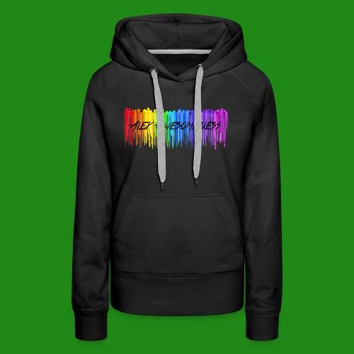 Rainbow Drip AA styled - Women's Premium Hoodie