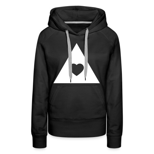 Abstract Love Heart - Women's Premium Hoodie