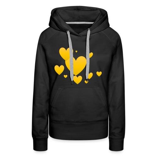 Yellow hearts - Women's Premium Hoodie