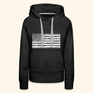 Digi-Camo American Flag - Women's Premium Hoodie