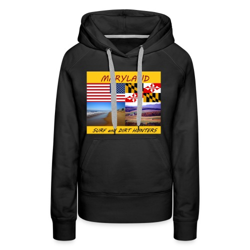 MARYLAND SURF AND DIRT HUNTERS group LOGO LARGE - Women's Premium Hoodie