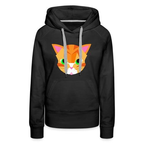 Geometric Cat - Women's Premium Hoodie