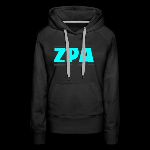 ZACHPLAYZARMY GREY AND TEAL - Women's Premium Hoodie