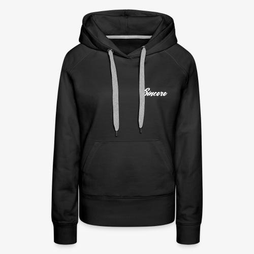 Sincere White Logo - Women's Premium Hoodie