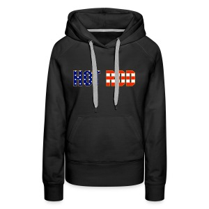 Hot Rod in Red and Blue - Women's Premium Hoodie