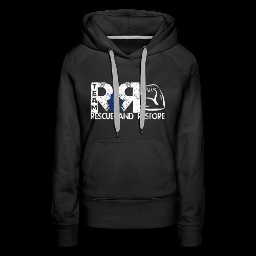 Team Rescue & Restore Blue Logo - Women's Premium Hoodie