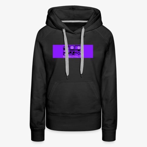 Net Neutrality Purple - Women's Premium Hoodie