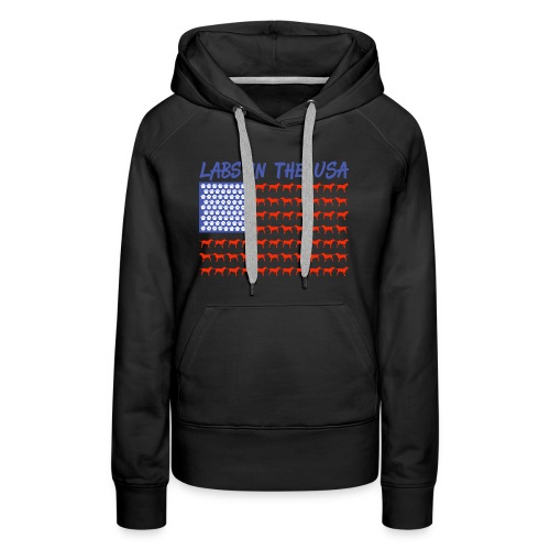 Labs in the USA Flag Labrador Retrievers - Women's Premium Hoodie