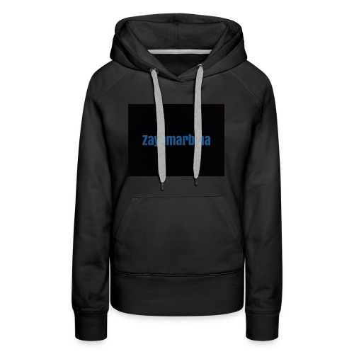 Zayamarbina bule and black t-shirt - Women's Premium Hoodie