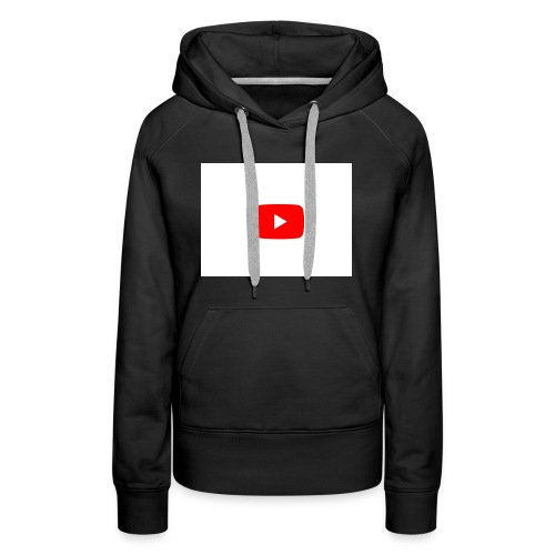 YouTube play button - Women's Premium Hoodie