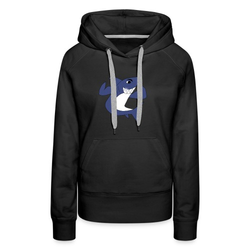 Sharky with Muscles - Women's Premium Hoodie