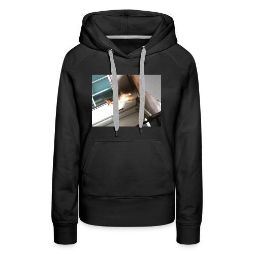 Stand cat T-shirt - Women's Premium Hoodie