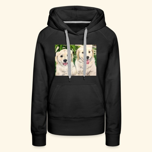 Golden Pups by Kelli Starkey @LACreationsLLC - Women's Premium Hoodie