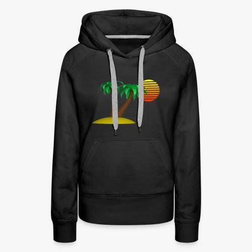 Palm Trees and Sun - Women's Premium Hoodie