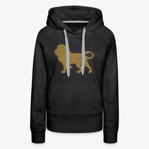 Lion Line Art - Women's Premium Hoodie