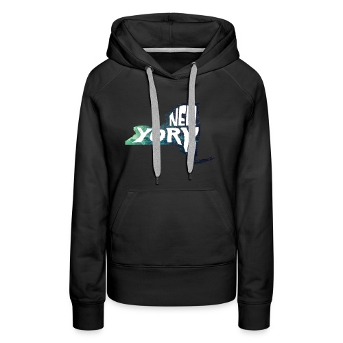 A New York State of Outline - Women's Premium Hoodie