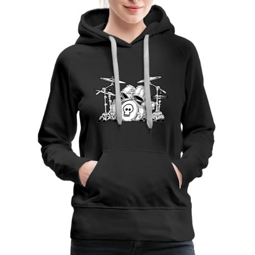 Drum Set Cartoon - Women's Premium Hoodie