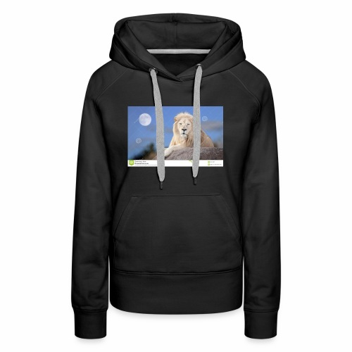 white lion moon light 62073026 - Women's Premium Hoodie