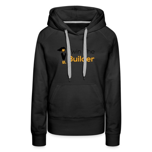 Twin The Builder Stacked Logo - Women's Premium Hoodie