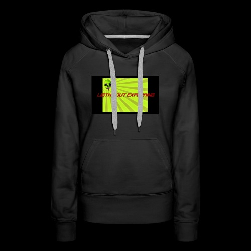 i love ligths out exploring - Women's Premium Hoodie