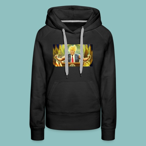 Donald Trump goes Super Saiyan - Women's Premium Hoodie