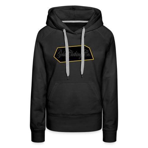 GOLD Clothing Co. Brick Logo - Women's Premium Hoodie