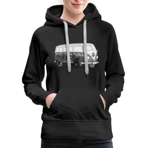 HippieBus blackandwhite - Women's Premium Hoodie