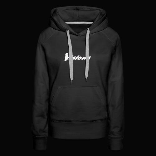 Visions white on black tees and hoodies - Women's Premium Hoodie