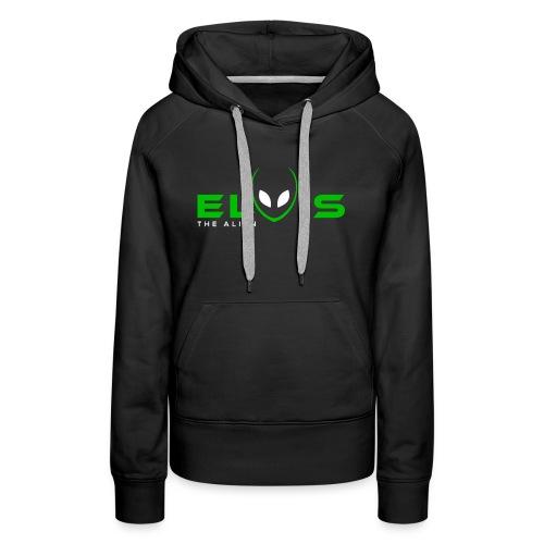 Elvis the Alien (black-logo) - Women's Premium Hoodie