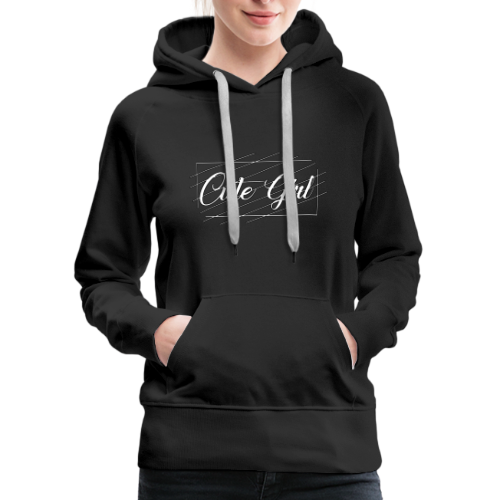 Cute Girl 01 - Women's Premium Hoodie
