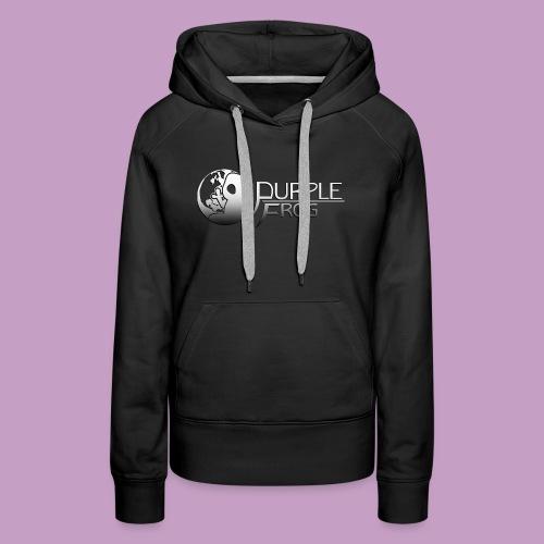 PurpleF LogoWhite Small Copy - Women's Premium Hoodie