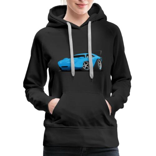Classic American Winged Muscle Car Hot Rod - Women's Premium Hoodie