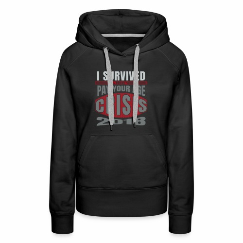 Funny Shopping Pay Your Age Survivor - Women's Premium Hoodie