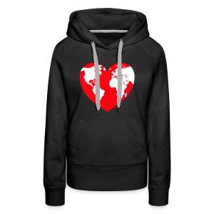 HEART LOVE PLANET MOTHER EARTH - Women's Premium Hoodie