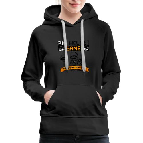 BIG HELMET GAME AMERICAN FOOTBALL NFL - Women's Premium Hoodie