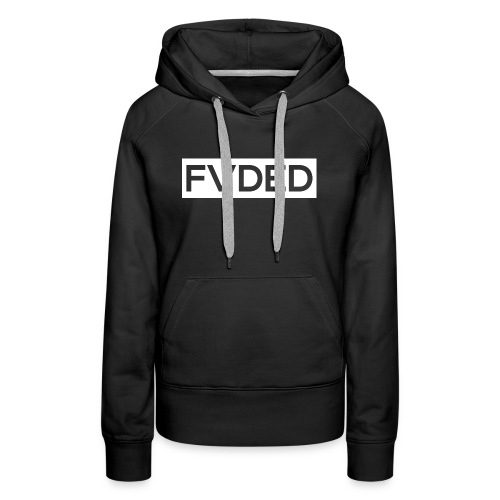 FVDED Cutout resize V1 white - Women's Premium Hoodie