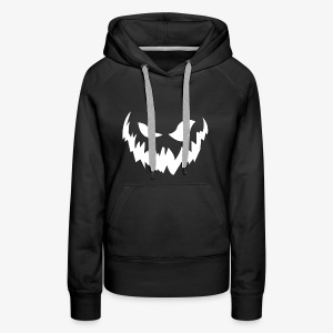Scary face (white) - Women's Premium Hoodie