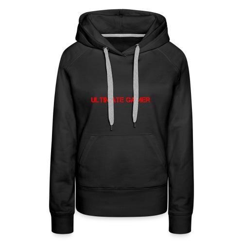 ultimate gamer red logo - Women's Premium Hoodie