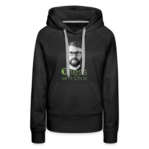 Chess with Chris Face and Logo - Women's Premium Hoodie
