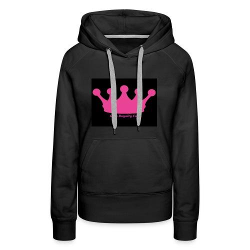 Gym Royalty Co Pink Crown Logo - Women's Premium Hoodie