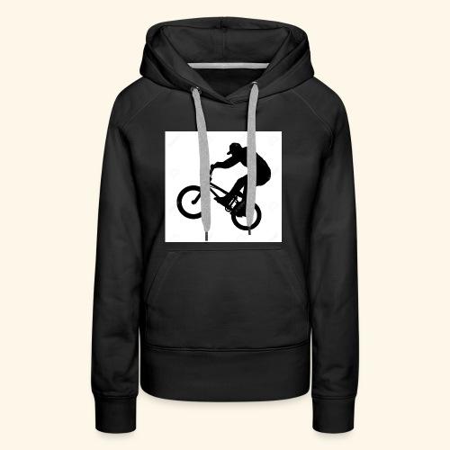 Rider silhouette - Women's Premium Hoodie