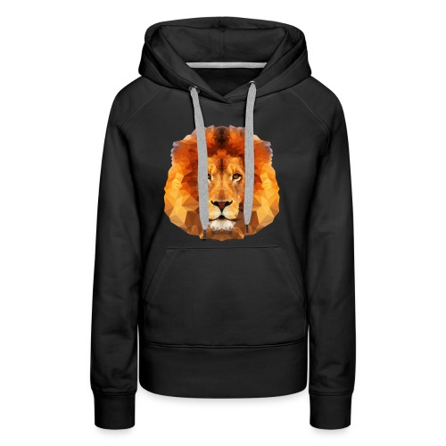 Low Poly Lion Face - Women's Premium Hoodie