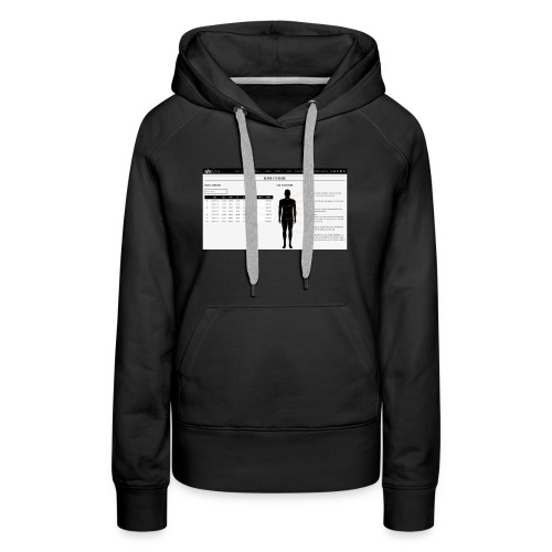 alpha fit guide - Women's Premium Hoodie